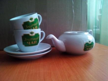 Чайный набор (Чайник + 2 чашки + 2 блюдца). Харьков. фото 1