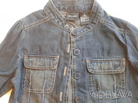 Джинсовая рубашка-пиджак