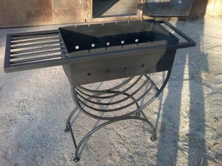Красивый мангал 3мм для дачи, на подарок +6 шампуров бесплатно. Запорожье. фото 1