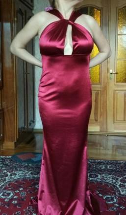 Вечернее платье-трансформер из плотного стрейч-атласа. Ткань не просвечивает, не. Запорожье, Запорожская область. фото 12