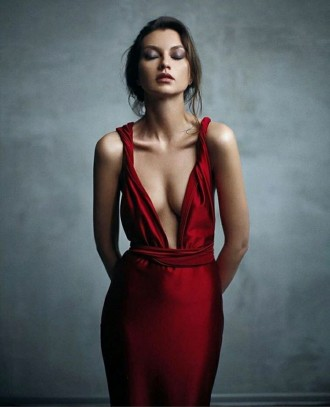 Вечернее платье-трансформер из плотного стрейч-атласа. Ткань не просвечивает, не. Запорожье, Запорожская область. фото 5
