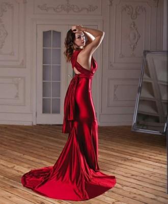 Вечернее платье-трансформер из плотного стрейч-атласа. Ткань не просвечивает, не. Запорожье, Запорожская область. фото 8