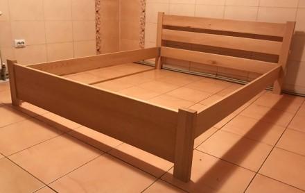Ліжко букове. 160*200 см. Виготовляємо односпальні, двоспальні, дитячі, двоярус. Самбор, Львовская область. фото 5