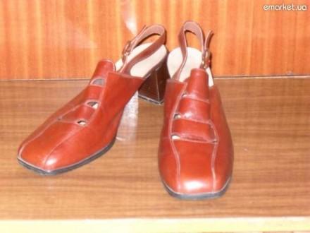 Кожаные туфли с открытой пяткой.. Харьков. фото 1