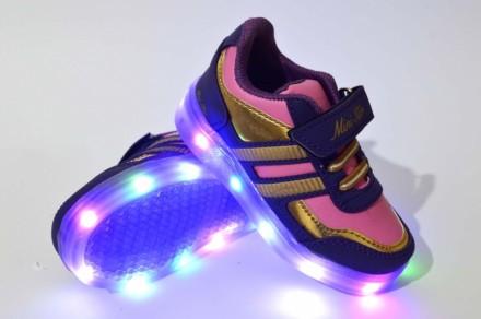 Cупермодные светящиеся кроссовки для девочек. Мариуполь. фото 1