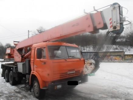 Продаем автомобильный кран Ульяновец МКТ-25.1 на шасси КАМАЗ 53215, 2006 г.в. Ме. Киев, Киевская область. фото 3