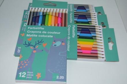 Цветные карандаши в картонной упаковке, 12 шт.,. Сумы, Сумская область. фото 3