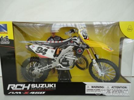 Мотоцикл модель 1:6 Suzuki RM Z 450 #94 New Ray motocros крос игрушка мотокрос