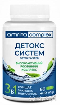Детокс систем, 60 капс  Высокоактивный растительный комплекс для улучшения фун. Киев, Киевская область. фото 1