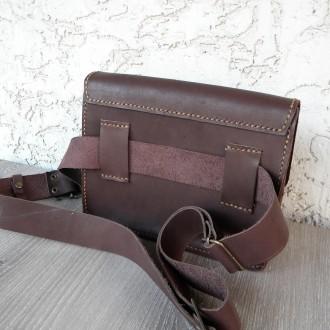 Поясная сумка ′ унисекс′ подойдет всем. Выполнена ручным швом из натуральной пло. Одесса, Одесская область. фото 8
