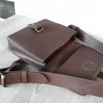 Поясная сумка ′ унисекс′ подойдет всем. Выполнена ручным швом из натуральной пло. Одесса, Одесская область. фото 7