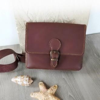 Поясная сумка ′ унисекс′ подойдет всем. Выполнена ручным швом из натуральной пло. Одесса, Одесская область. фото 4