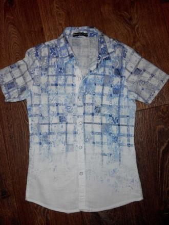 Продам рубашку фирмы BLUELAND размер 140/10 х/б. Лозовая. фото 1