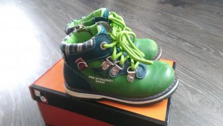 Кожаные ботинки на мальчика весна/осень. Чугуев. фото 1