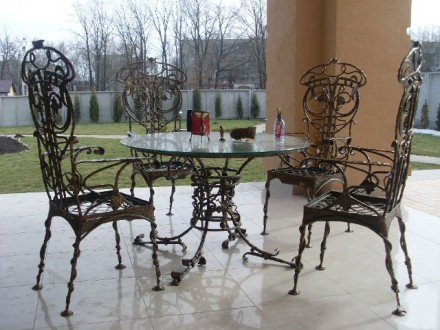 Занимаемся  изготовлением под заказ элитной металлической кованой мебели с элеме. Кременчуг, Полтавская область. фото 7