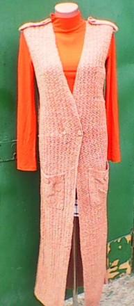Жилет вязанный женский. Кременчук. фото 1
