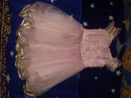 Нарядное детское платье розового цвета для выступлений на праздниках. Киев, Киевская область. фото 3