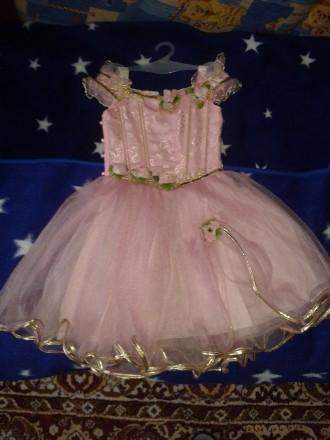 Нарядное детское платье розового цвета для выступлений на праздниках. Киев, Киевская область. фото 2
