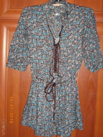 Блуза-туника р.44(евр)Турция.. Лозовая. фото 1