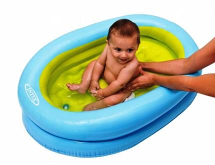 Надувная десткая ванночка для купания Intex 48421 86х64х23 см от 1 до 3 лет. Харків. фото 1