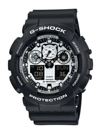 Часы CASIO G-SHOCK GA-100BW ORIGINAL. Киев. фото 1