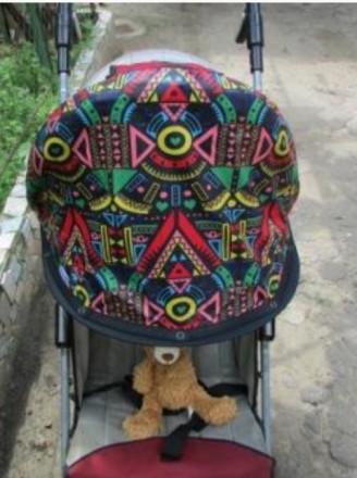 Двухслойный козырек на коляску. Николаев. фото 1