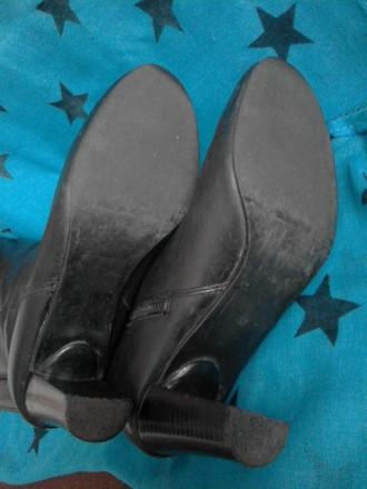 Классические кожаные демисезонные сапоги, 37 размер по стельке 23.5 см. Вверх хо. Кривой Рог, Днепропетровская область. фото 7