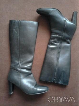 Классические кожаные демисезонные сапоги, 37 размер по стельке 23.5 см. Вверх хо. Кривой Рог, Днепропетровская область. фото 1