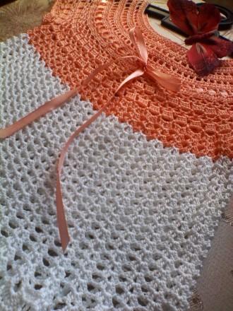 Платье детское вязаное. Ручная работа, связано крючком. 100% хлопок. Длинна и. Кременчуг, Полтавская область. фото 3