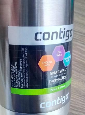 Велика (591 мл) термокружка SnapSeal Superior  від американського бренду Contigo. Николаев, Николаевская область. фото 5