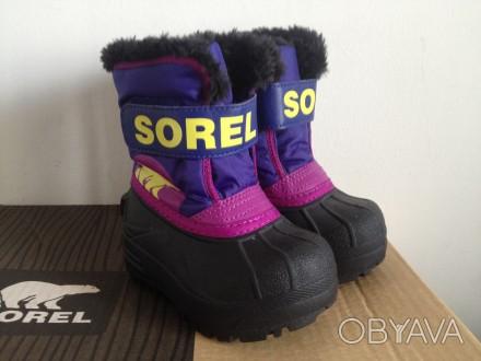 Sorel ботинки сноубутсы зимние сапоги 23