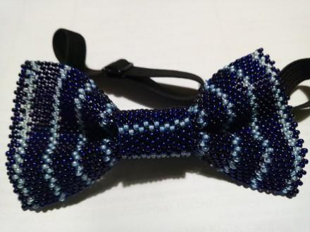 галстук-бабочка для мальчика 10х5 см из чешского бисера ручной работы, выглядит . Кривой Рог, Днепропетровская область. фото 4