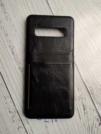 Чехол для телефона samsung S10 из восковой кожи с масляным покрытием в стиле рет. Николаев, Николаевская область. фото 2