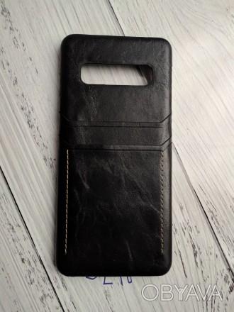 Чехол для телефона samsung S10 из восковой кожи с масляным покрытием в стиле рет. Николаев, Николаевская область. фото 1