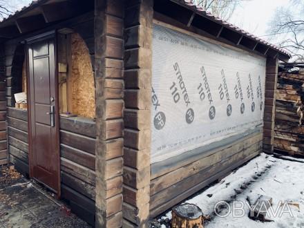 Беседка со сруба, в отличном состоянии. Для летнего и зимнего время провождения . Кривой Рог, Днепропетровская область. фото 1