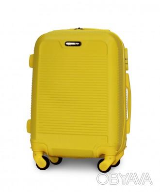 Чемодан Fly 1093 мини 52х37х20 см Ручная кладь на 4 колесах Желтый