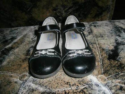 Туфли для девочки кожаные 29 размер Домик. Немиров. фото 1