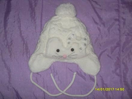 Дитяча зимова шапочка (для дівчинки). Львов. фото 1