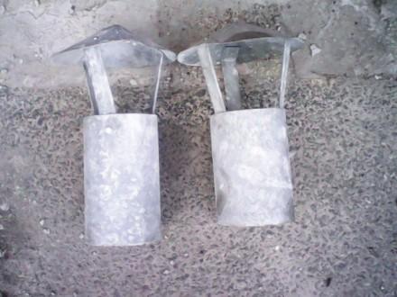 зонт воздуховода из оцинковки-ф180 мм,диаметр трубы-ф102 мм,цена за 1 шт. Киев, Киевская область. фото 3