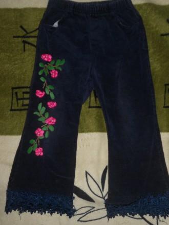 Вельветовые штаны для девочки. Никополь. фото 1