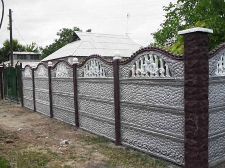 железобетонный декоративный забор,армированный,используем пластификатор, более 2. Житомир, Житомирская область. фото 4