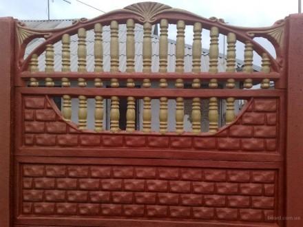 железобетонный декоративный забор,армированный,используем пластификатор, более 2. Житомир, Житомирская область. фото 2