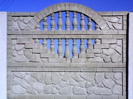железобетонный декоративный забор,армированный,используем пластификатор, более 2. Житомир, Житомирская область. фото 3