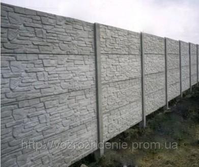 железобетонный декоративный забор,армированный,используем пластификатор, более 2. Житомир, Житомирская область. фото 10