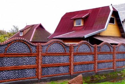 железобетонный декоративный забор,армированный,используем пластификатор, более 2. Житомир, Житомирская область. фото 8