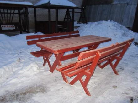 Комплект : стол + 2 лавки .. Чернигов. фото 1