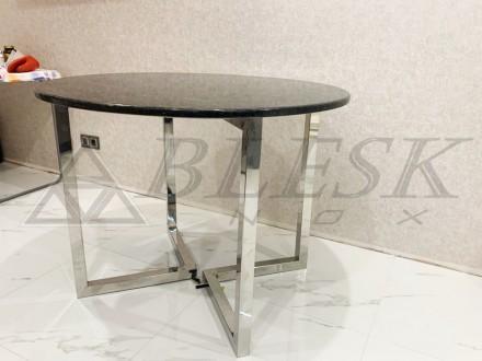 Стеклянный столик столик модерн из нержавейки и стекла.   Столешница может . Киев, Киевская область. фото 3