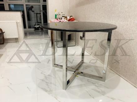 Стеклянный столик столик модерн из нержавейки и стекла.   Столешница может . Киев, Киевская область. фото 2