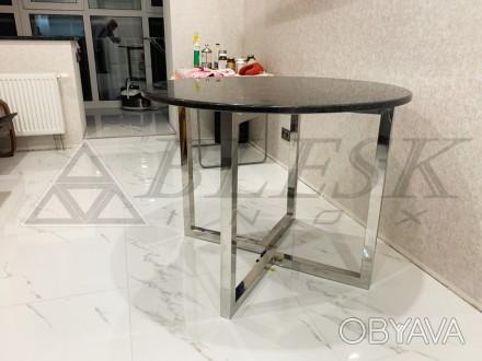 Стеклянный столик столик модерн из нержавейки и стекла.   Столешница может . Киев, Киевская область. фото 1