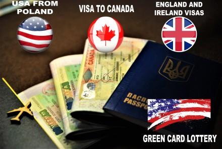Вiза в Канаду після відмови, Вiзи в США, Вiза в Ірландію, Возз'єднання сім'ї GB. Ивано-Франковск. фото 1